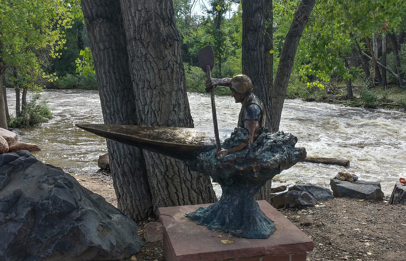 Kayak Statue