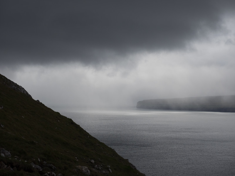 I got quite worried that the weather across the way was coming my direction  - I was halfway up a mountain, with no cover -  but thankfully it never did.