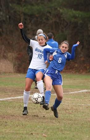 Wahconah Girls Soccer vs. Monson, Western Mass. quarterfinals - 111019