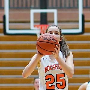 Rockford Girls Basketball JV Home Win vs Hudsonville