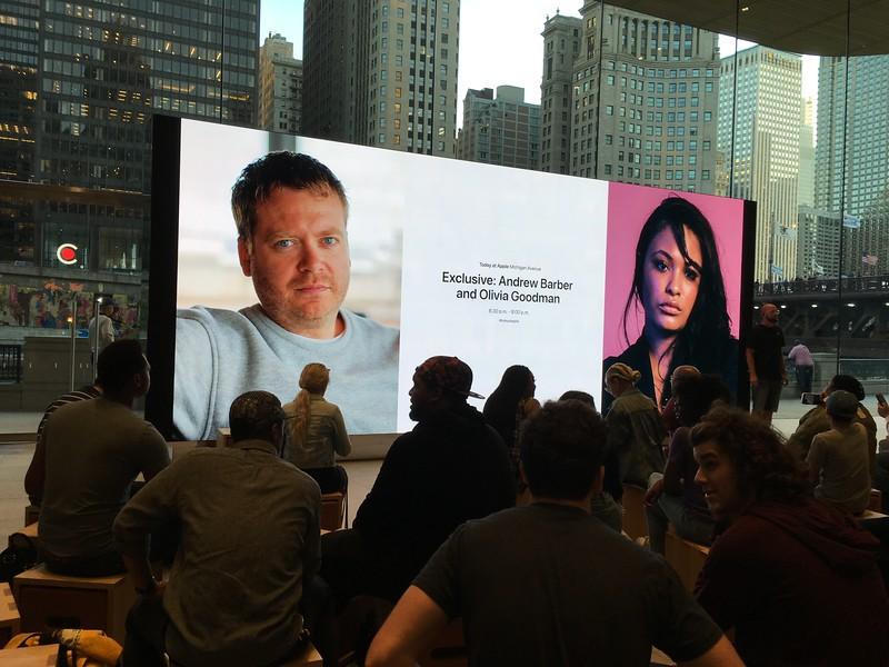 Föredrag av Andrew Barber och Olivia Goodman på Apple Store