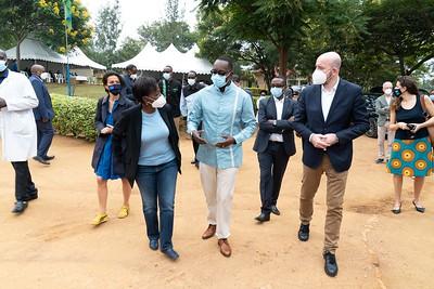 Visite du centre vaccination Mayange - Kigali
