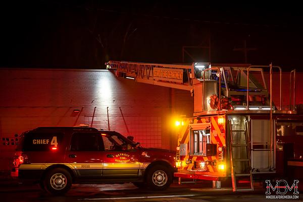 Detroit MI, Commercial Fire 2-21-2020