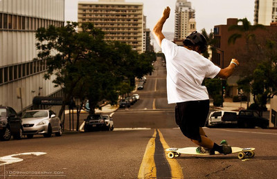 Long board Action and decks