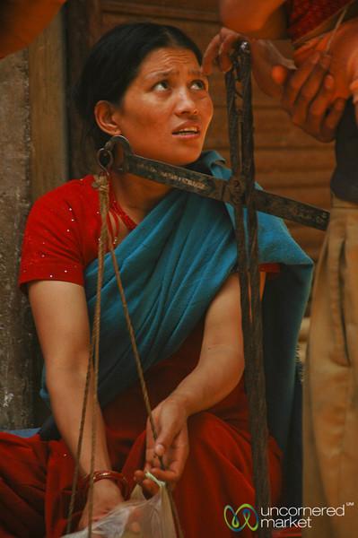 Weighing the Goods - Kathmandu, Nepal