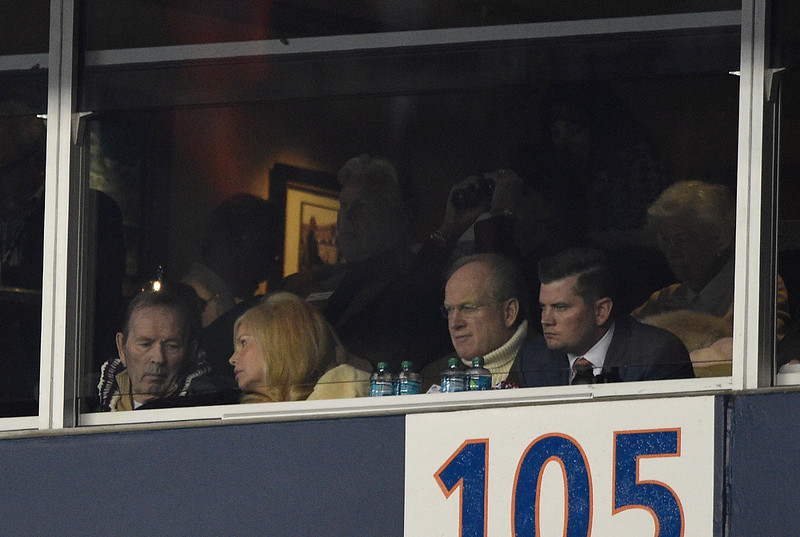 . Pat Bowlen watches the fourth quarter from his box. The Denver Broncos played the Indianapolis Colts in an AFC divisional playoff game at Sports Authority Field at Mile High in Denver on January 11, 2015. (Photo by John Leyba/The Denver Post)