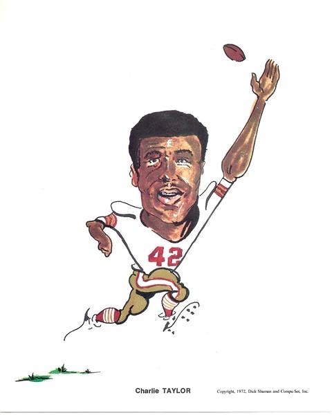 1972 Compu-Set Redskins Charlie Taylor