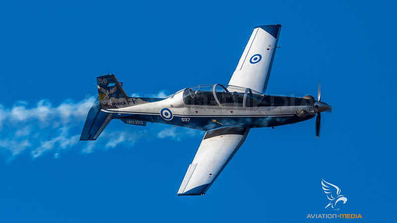 Hellenic Air Force / Beechcraft T-6 Texan II / 037 / 50th Anniversary 361 Mira Livery
