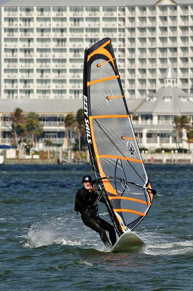 Windsurfing at Sanibel Causeway