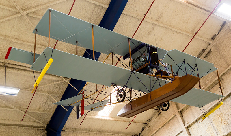 Replica of Glenn Curtiss' 1911 pusher plane, the Model D