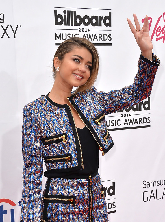 . Actress Sarah Hyland attends the 2014 Billboard Music Awards at the MGM Grand Garden Arena on May 18, 2014 in Las Vegas, Nevada.  (Photo by Frazer Harrison/Getty Images)