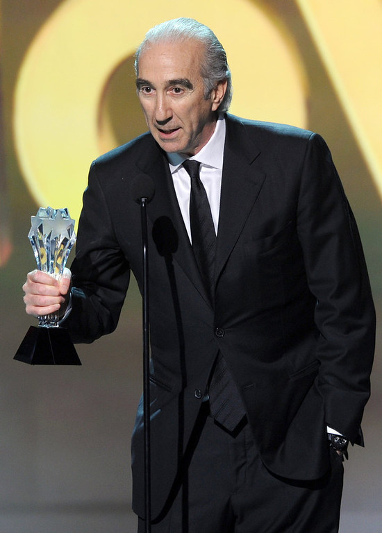 """. Co-CEO of MGM Gary Barber accepts the Best Action Movie Award for \""""Skyfall\"""" onstage at the 18th Annual Critics\' Choice Movie Awards held at Barker Hangar on January 10, 2013 in Santa Monica, California.  (Photo by Kevin Winter/Getty Images)"""