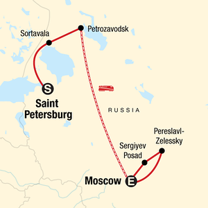 Russia Adventure Travel Map