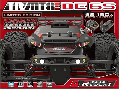 Team Redcat TR-MT8E BE6S 1:8 Scale Brushless Monster Truck