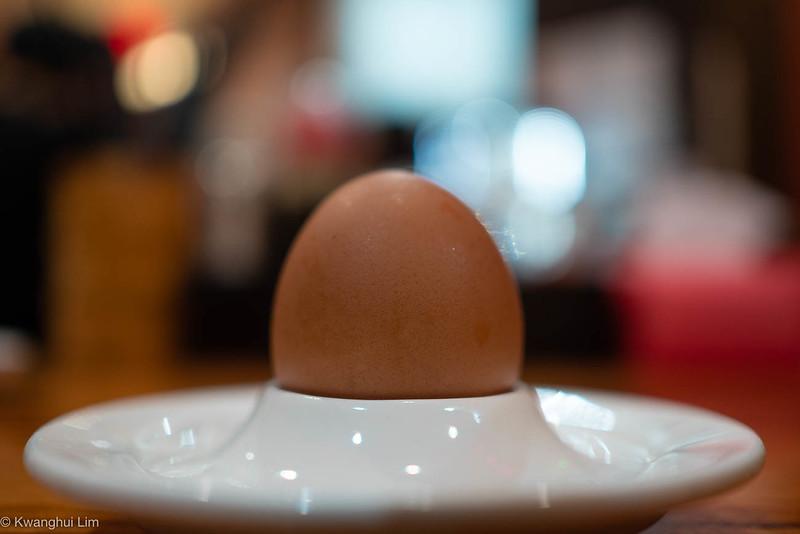 Malaysia - half boiled egg