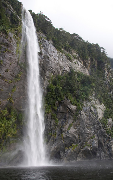 Waterfall Plunge - Milford Sound