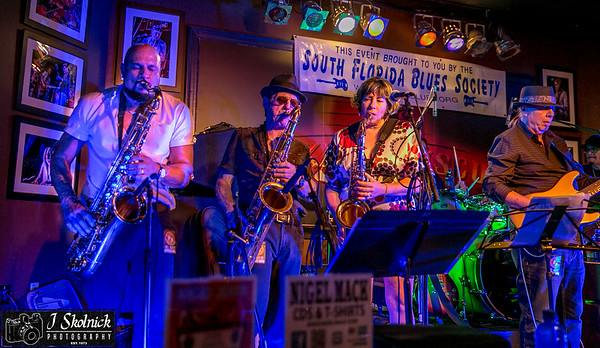 11/18/17 SoFla Blues Society Horns and Keys Event at Funky Biscuit