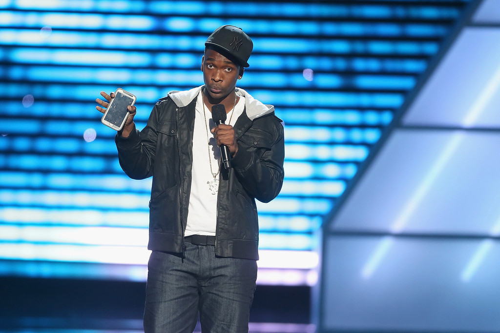 . Actor/Commedian Jay Pharoah speaks onstage at The 2013 ESPY Awards at Nokia Theatre L.A. Live on July 17, 2013 in Los Angeles, California.  (Photo by Frederick M. Brown/Getty Images for ESPY)
