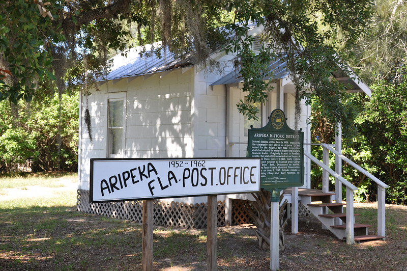 About twenty miles north of Tarpon Springs on the west coast of Florida is a historic fishing village named Aripeka.  Located in the middle of miles and miles of sea grass to the west of State Route 19 the small village is a reminder of the quiet Florida way of life of times gone by.