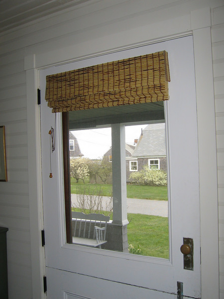 Woven Wood Shades without Privacy Liner