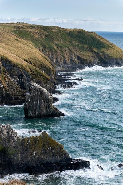 View of the coast, Old Head of Kinsale, Kinsale, County Cork, Ireland