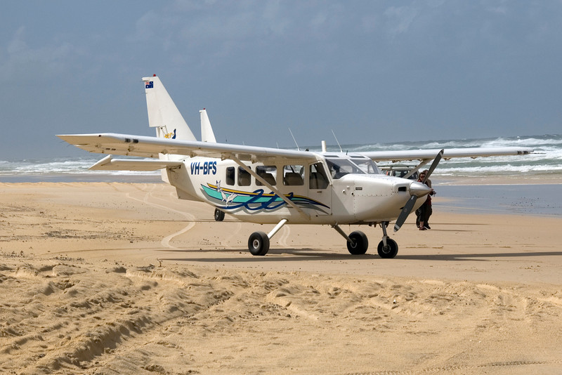 Plane on Beach, Fraser Island - Queensland, Australia