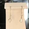 .47ctw Mismatched Pear Flat Cut Diamond Drops 8