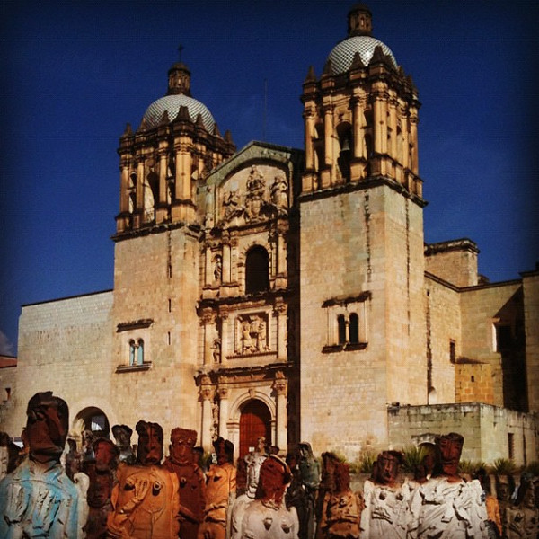 Stone Crowd -- Iglesia Santo Domingo, Oaxaca #Mexico #warm