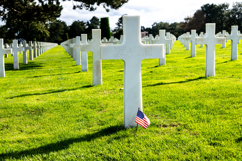 Omaha Beach and Cemetery