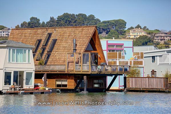 Houseboat on Gate 6, Sausalito