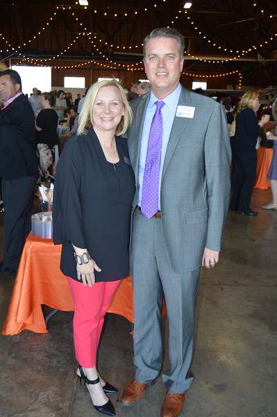 Sara Eichmann (Fayetteville Public Schools Foundation Board President), Justin Eichmann (President of the Fayetteville Board of Education) 2.JPG