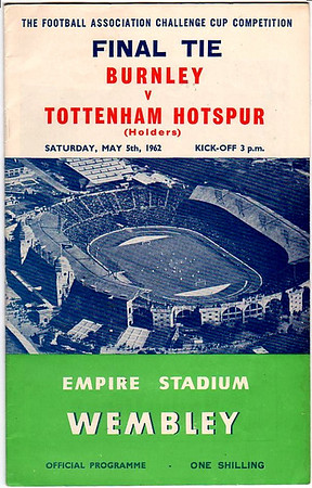 Burnley  v Tottenham Cup Final 1961