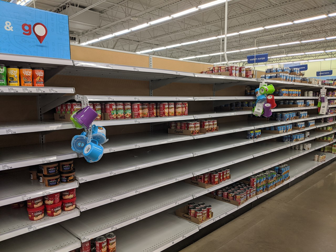 Canned soup, Meijer, Apr 19, 2020