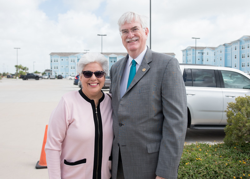Nelda Martinez and Flavius Killebrew during the Momentum Campus stage 2 ground breaking ceremony.