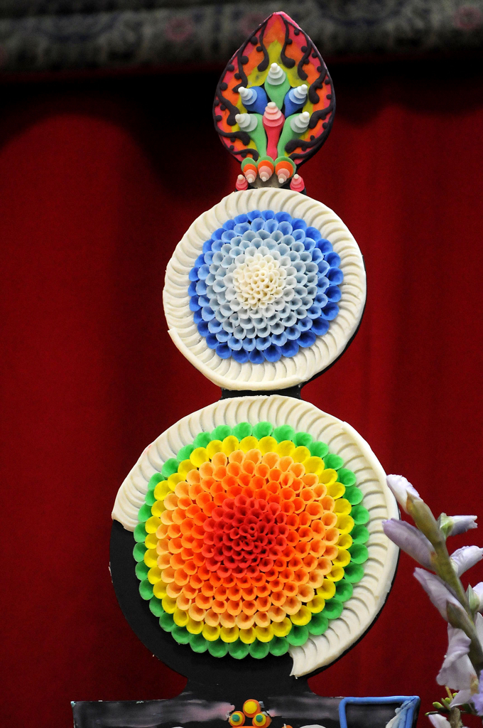 . Decorations of wax and butter made for Sunday\'s event can last up to a year. (Pioneer Press: Sherri LaRose-Chiglo)