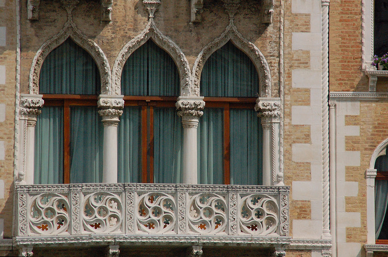 Grand Canal Triple Window---Venice, Italy
