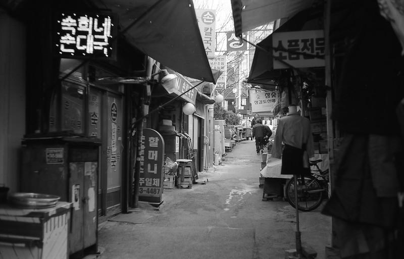 Back alleys of Jungang Market, Seoul