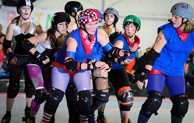 Little Red Riveters v Death Scar Derby Dames