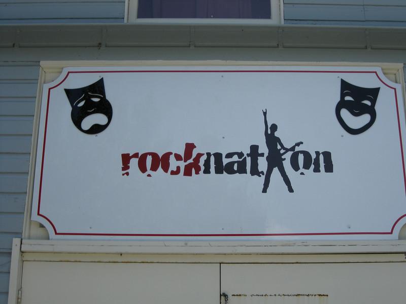 Rocknation sign.