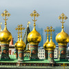 Golden Onions of the Kremlin, Moscow, Russia
