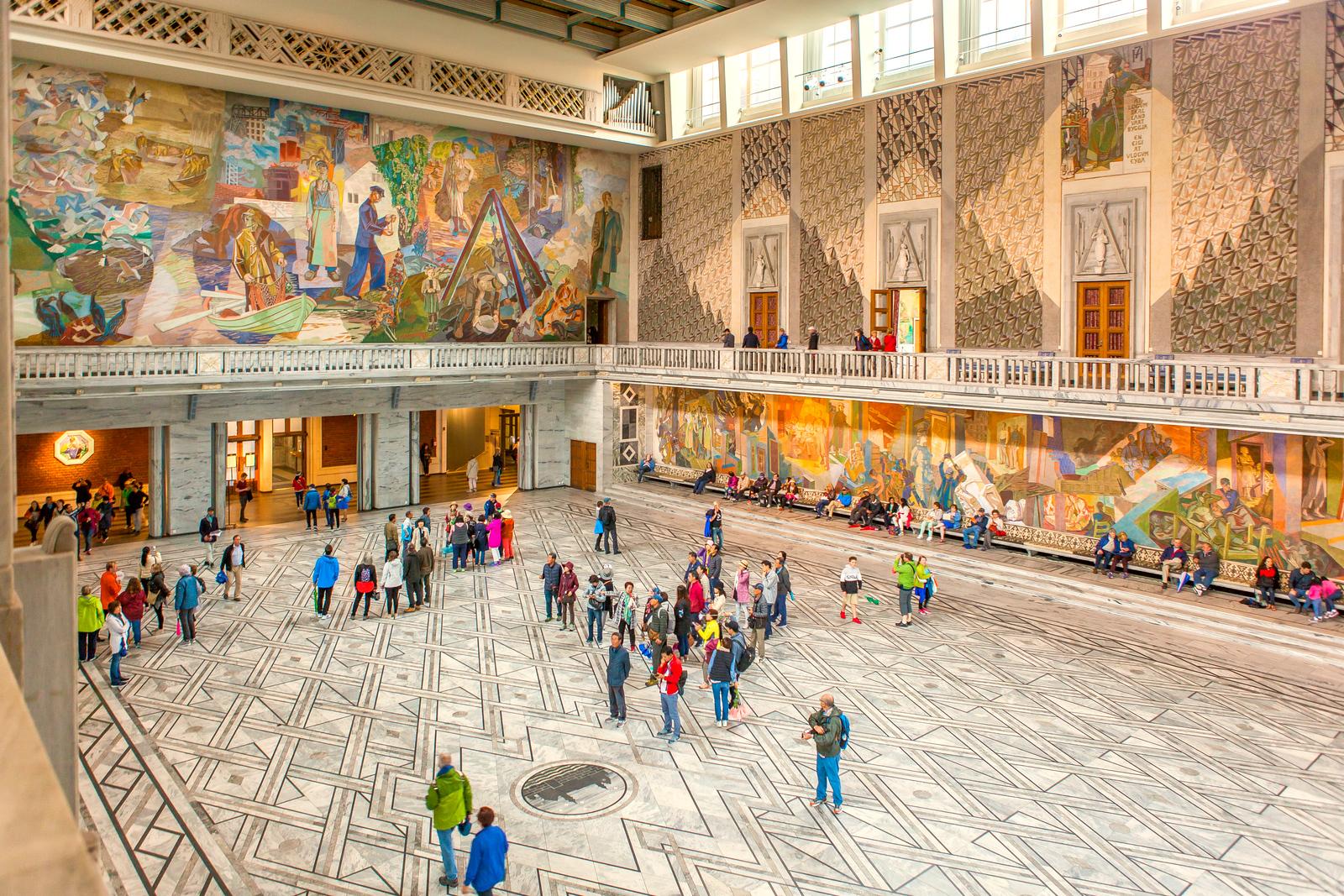 挪威奥塞罗市政厅,走进世纪建筑