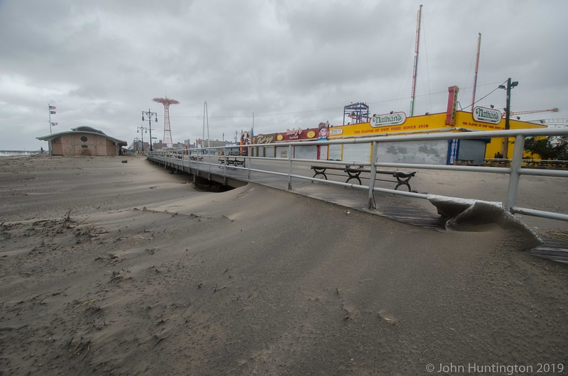 BROOKLYN, NY/USA - October 30, 2012 The boardwalk in the aftermath of hurricane Sandy on October 30, 2012 in the Coney Island section of Brooklyn.