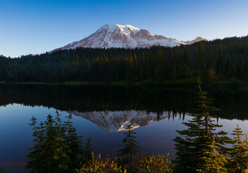 Mt. Rainier with Reflection Lake in the foreground.