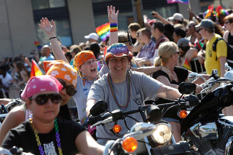 . Motorcycle riders take part in the gay-pride themed Capital Pride Parade in Washington, June 8, 2013. REUTERS/Jonathan Ernst