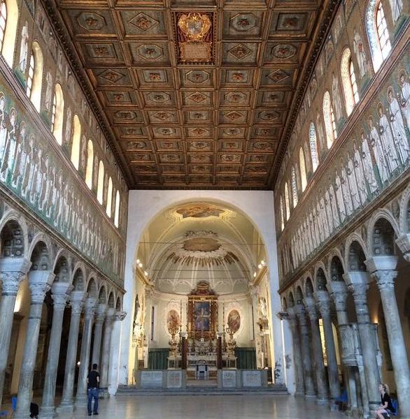 Basilica di Sant'Apollinare Nuovo in Ravenna, Italy