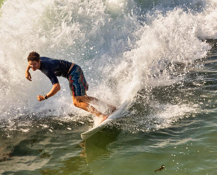 Surfer at Pacific Beach, San Diego