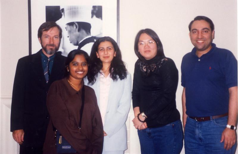 St Clair, Uma Devi, Gitanjali Talwar and Chen Chonmin and Suchit Nanda - all friends from APNIC meeting held in Seoul, South Korea.