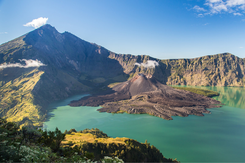 Mount Rinjani in Lombok, Indonesia