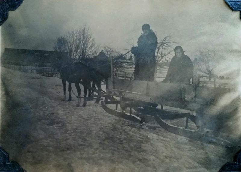 Bill and Amelia (Liebe) Clark on their farm