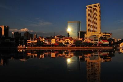 Sunrise at Boat Quay